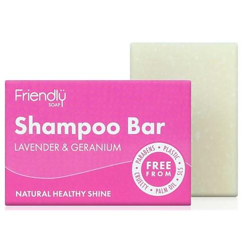 Friendly Soap Shampoo Bar -  Lavendel & Geranium