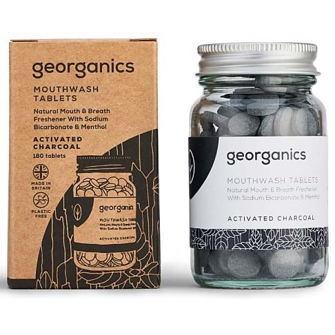 Georganics Mondwater Tabletten - Geactiveerde Houtskool