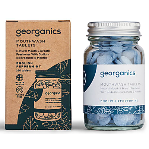 Georganics Mondwater Tabletten - Engelse Pepermunt