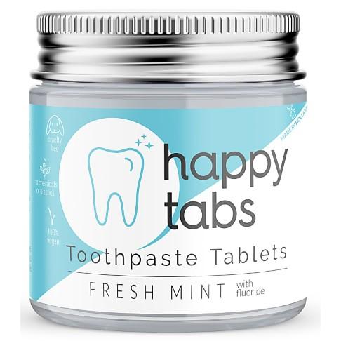 Happy Tabs Tandpasta Tabletten Munt (fluoride)