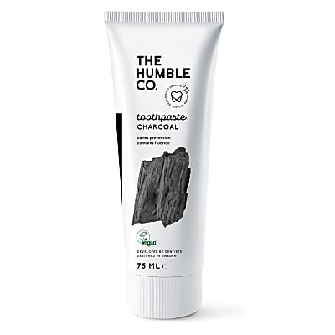 Humble Natuurlijke Tandpasta met Fluoride - Houtskool 75 ml