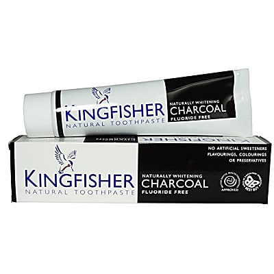 Kingfisher Charcoal Naturally Whitening Tandpasta (Houtskool)