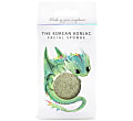 Konjac Mythical Dragon Sponge Box met Haak - Green Clay