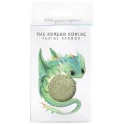 Konjac Mythical Dragon Sponge Box met Haak - Green Clay