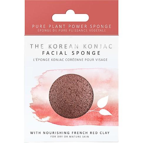 Konjac Facial Puff Sponge Rode Klei (droge & rijpere huid)