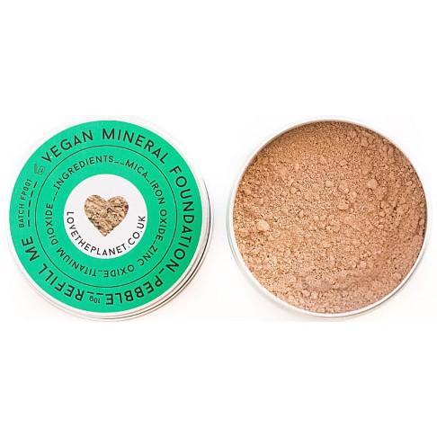 Love the Planet Vegan Mineral Foundation - Pebble