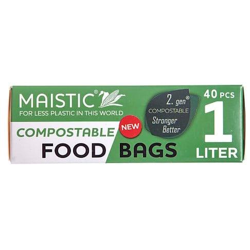 Maistic 2. Gen Composteerbare Voedselzakken 1Ltr (40)