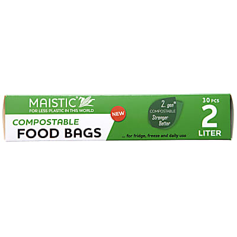 Maistic 2.Gen Composteerbare Voedselzakken 2Ltr (30)