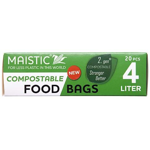 Maistic 2. Gen Composteerbare Voedselzakken 4Ltr (20)