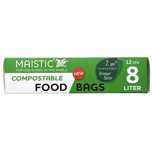 Maistic 2. Gen Composteerbare Voedselzakken 8Ltr (12)