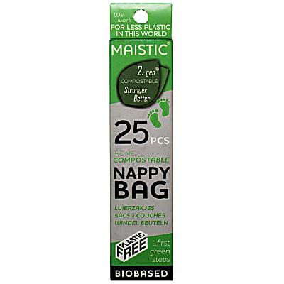 Maistic Composteerbare Wegwerpzakjes voor Luiers - (25 zakjes)