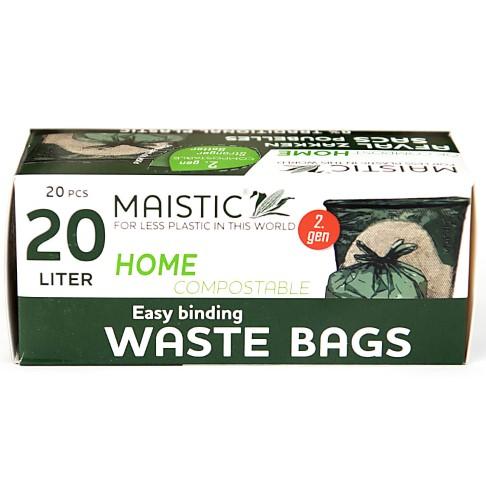Maistic 2.Gen Composteerbare Vuilniszakken met Treklus - 20L (14 zakken)