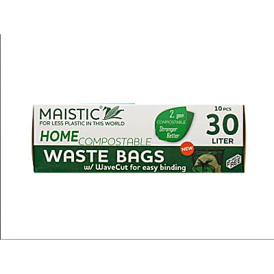 Maistic 2.Gen Composteerbare Vuilniszakken met Treklus - 30L (10 zakken)