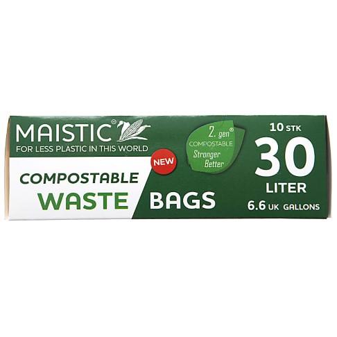 Maistic 2. Gen Composteerbare Vuilniszakken 30Ltr (10)