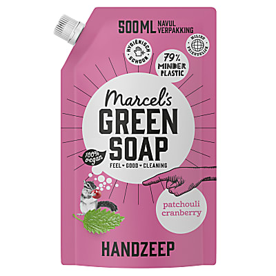 Marcel's Green Soap Handzeep Patchouli & Cranberry 1L