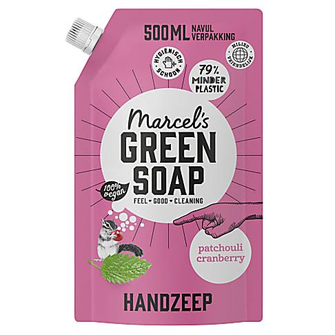 Marcel's Green Soap Handzeep Patchouli & Cranberry Navul Stazak 500ml