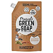 Marcel's Green Soap Handzeep Sandelhout & Kardemom Navul Stazak 500ml