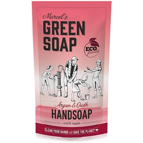 Marcel's Green Soap Handzeep Argan & Oudh Refill Stazak 500ML