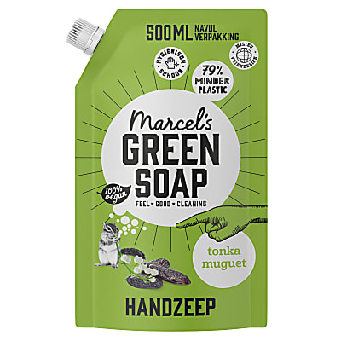 Marcel's Green Soap Handzeep Tonka & Muguet Refill Stazak 500ML