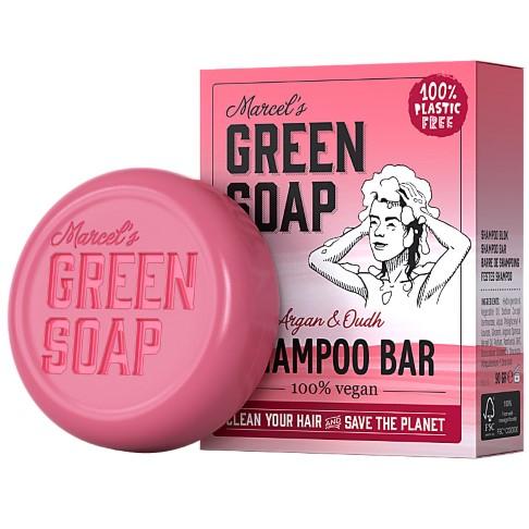 Marcel's Green Soap Shampoo Bar Argan & Oudh