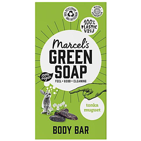 Marcel's Green Soap Body Bar Tonka & Muguet