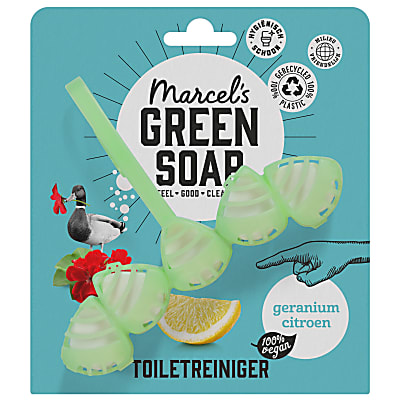 Marcel's Green Soap Toilet Blok Geranium & Lemon