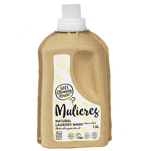 Mulieres Natuurlijk vloeibaar wasmiddel - Fresh Citrus 1.5L (37 wasbeurten)