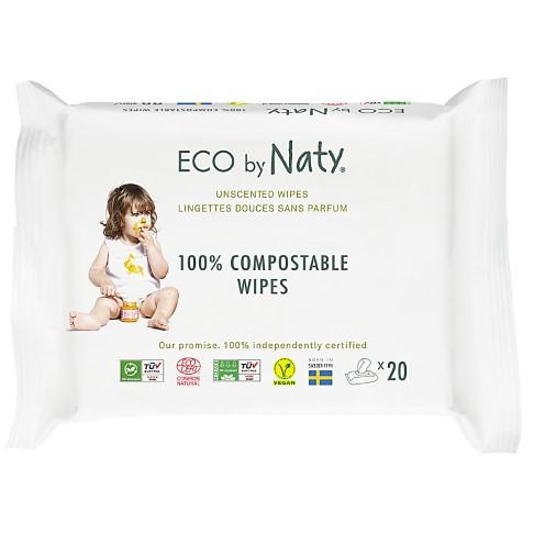 Nature Babycare ECO Gevoelige Babydoekjes - Ongeparfumeerd Reispakket
