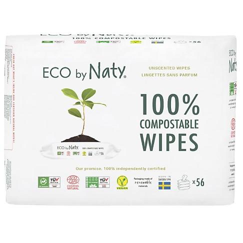 Nature Babycare ECO Gevoelige Babydoekjes - Ongeparfumeerd (3x56)