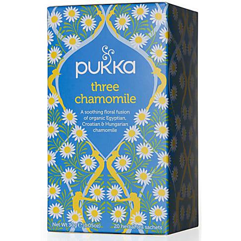 Pukka Three Chamomile Tea (20 zakjes)