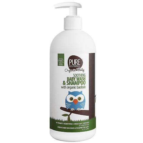 Pure Beginnings Kalmerende Baby Wash & Shampoo Biologische Baobab (500ml)