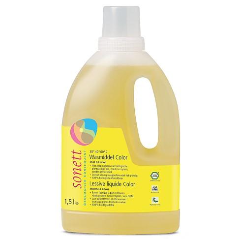 Sonett Vloeibaar Wasmiddel Color - Munt & Citroen 1.5L