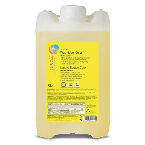 Sonett Vloeibaar Wasmiddel Colour - Munt & Citroen 5L