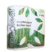 Ecoleaf 100% gerecycleerde keukenrol (2 rollen)