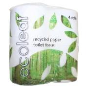 Ecoleaf 100% Gerecylceerd Toiletpapier (4 rollen)