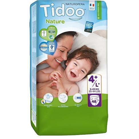 Tidoo Nature Luiers Maat 4+ (9-20kg)