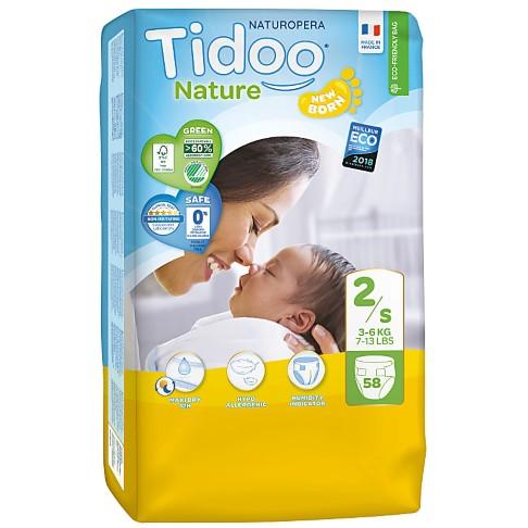 Tidoo Nature Luiers Maat 2 - Mini (3-6kg)