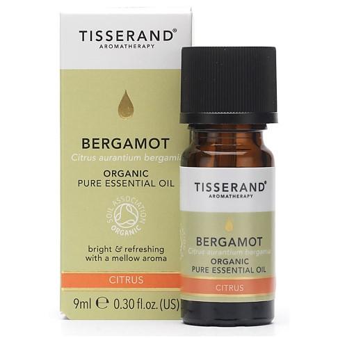 Tisserand Bergamot Organic Essential Oil 9ml - verhelderend
