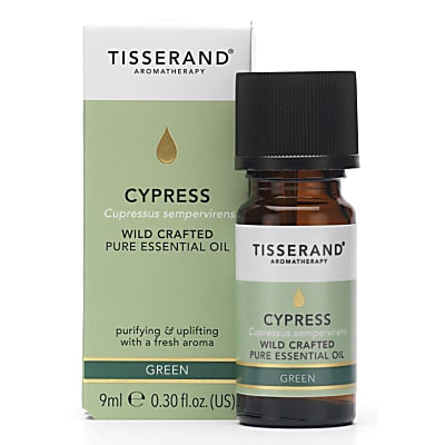 Tisserand Cypress Wildcrafted Essential Oil (9ml) - verkwikkend