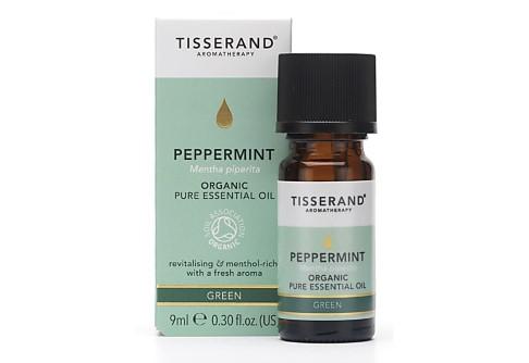 Tisserand Peppermint Organic Essentiële Olie (9ml) - verfrissend