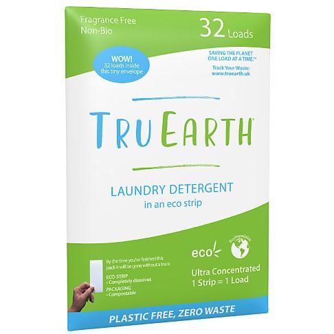 Tru Earth Eco Wasstrips Parfumvrij (32 wasbeurten)