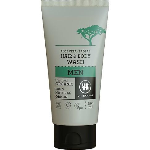 Urtekram Men Hair & Body Wash - Baobab Aloe Vera