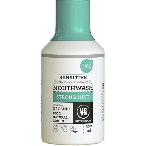 Urtekram Mondwater Munt 300 ml (gevoelige tanden)