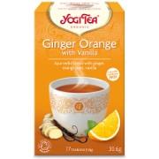 Yogi Tea Ginger Orange & Vanilla Bio Thee (17 zakjes)