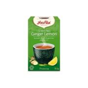 Yogi Tea Green Tea With Ginger & Lemon Bio Thee (17 zakjes)